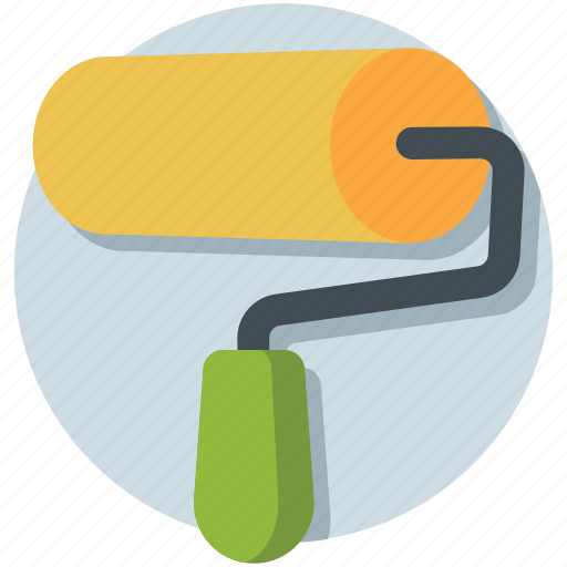 paint roller, painting, renovation, roller, tool icon