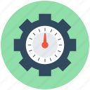 accuracy, alertness, competition, gear, stopwatch icon