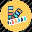color palette, color swatch theme, colour guide, colour sampler, paint swatches icon