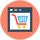 e business, ecommerce, ecommerce website, online shopping, shopping cart icon