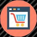 e business, ecommerce, ecommerce website, online shopping, shopping cart icon