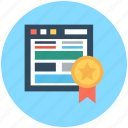 emarketing, ribbon badge, web ranking, webpage, webpage quality icon