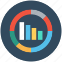 business presentation, circular graph, commerce, graph, statistics icon