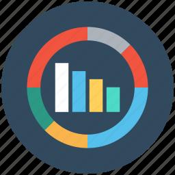 business presentation, circular graph, commerce, graph, statistics icon