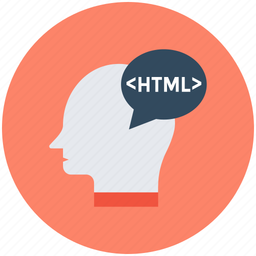 computer programmer, html sign, male head, programmer, software engineer icon