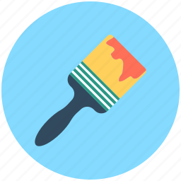hand tool, paint brush, paint tool, painting equipment, painting tool icon
