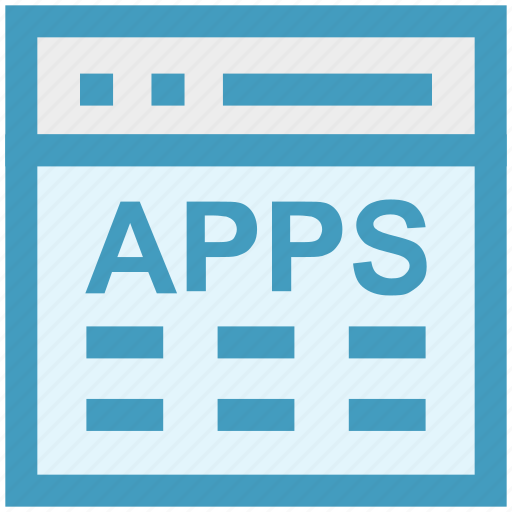 apps, blog, content, layout, web, webpage, website icon