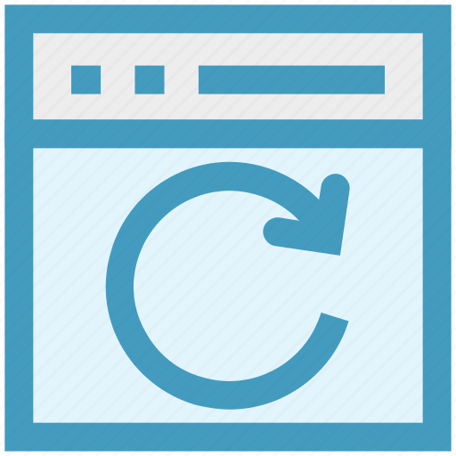 arrow, blog, circle, refresh, web, webpage, website icon