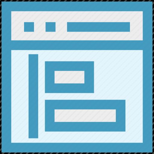 article, blog, design, development, web, webpage, website icon