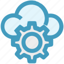 cloud, cloud computing, cloud setting, cogwheel, gear, setting, setup icon