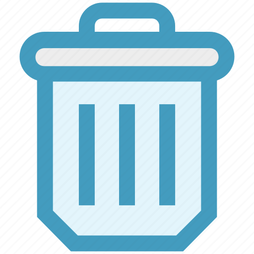 bin, dustbin, garbage, garbage can, recycle, trash, waste icon