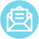 development, letter, mail, message, nvelope, open envelope, page
