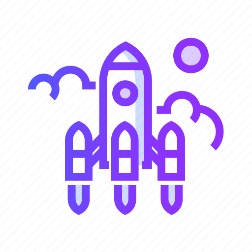 business, graph, rocket, seo, startup icon