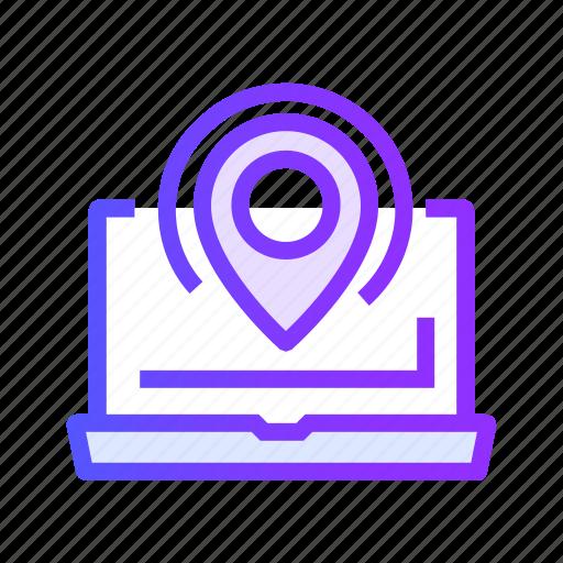 direction, internet, location, navigation, web icon