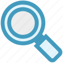 find, glass, magnifier, magnifying, magnifying glass, search, zoom icon