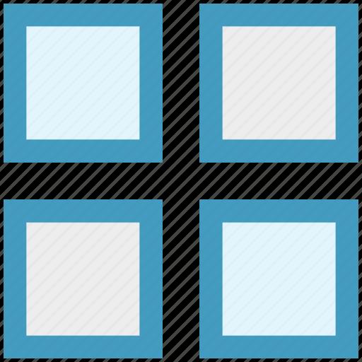 box, box grid, design, graphic, grid, interface, visualization icon