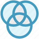circles, creative, design, graphic, screener, tool icon