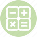 billing, calc, calculate, calculation, calculator, count, math icon