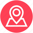 gps, location, map, map pin, navigation, paper map, travel icon