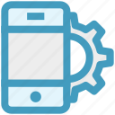 cogwheel, configuration, gear, mobile marketing, mobile setting, option, smartphone