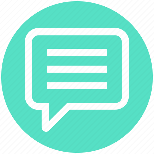 Chat, comment, conversation, message, sms, talk, text icon - Download on Iconfinder