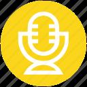 mic, microphone, record, singing, studio mic, vintage studio mic, voice icon