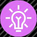 bulb, creative, idea, lamp, light, light bulb