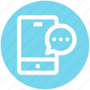 chat, comment, message, mobile, phone, smartphone, sms icon