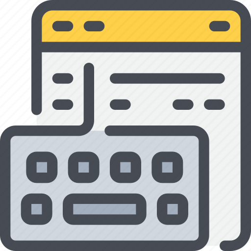 browser, code, coding, develop, development, keyboard icon