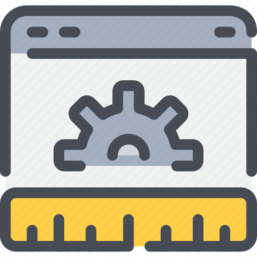 browser, development, gear, planning, process, web icon