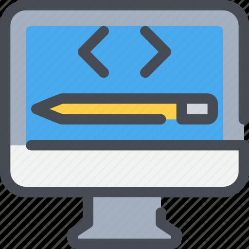 Code, coding, computer, development, pencil, web icon - Download on Iconfinder