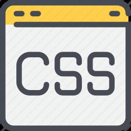 browser, code, css, development, web icon