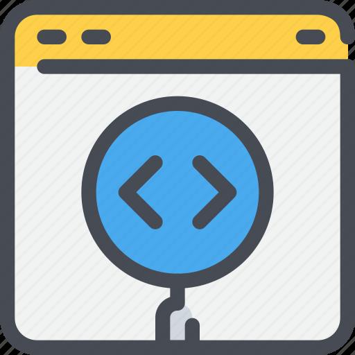browser, code, coding, develop, development, web icon