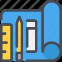 business, development, pencil, plan, planning, web icon