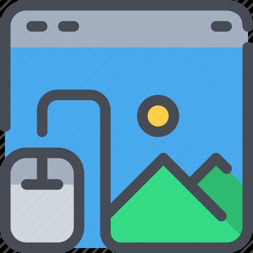 browser, design, development, mouse, web icon