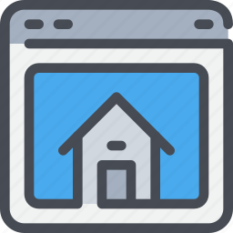 browser, home, web, website icon