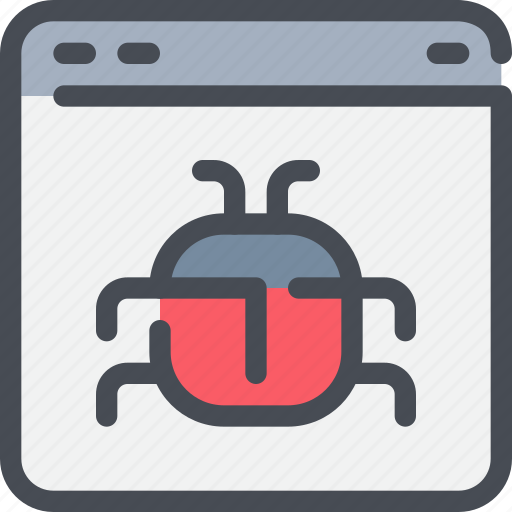 browser, bug, develop, development, fix, web icon