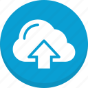 cloud, data, sky cloud, upload icon