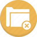 archive, cancel folder, delete folder, folder, remove folder