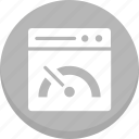 cogwheel, gear, internet speed, speed test, web analyzer, web speed icon
