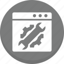 cog, setting, web page icon