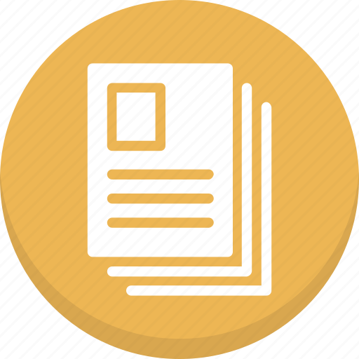 documents, paper, sheets icon