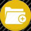 add to folder, data storage, file storage, folder, new folder