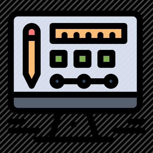 design, monitor, screen icon