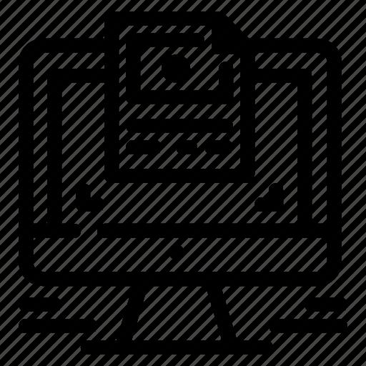 computer, design, screen, website icon
