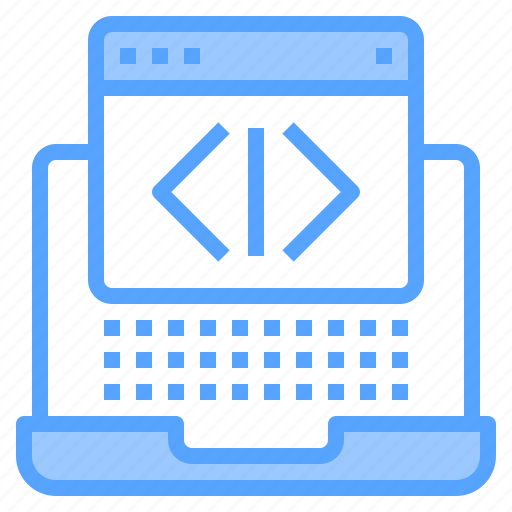 blogging, coding, design, ideas, laptop, programming, technology icon