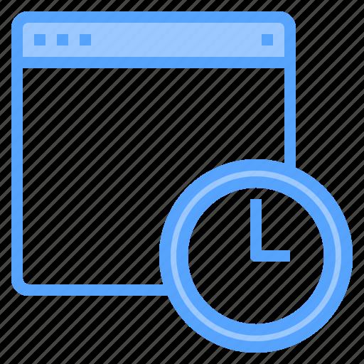 blogging, design, ideas, laptop, programming, technology, time icon