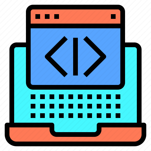 blogging, coding, design, ideas, laptop, programming, technology icon