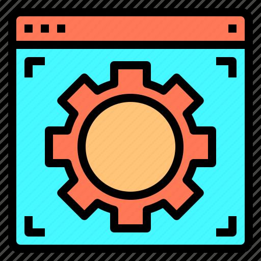 blogging, configurations, design, ideas, laptop, programming, technology icon