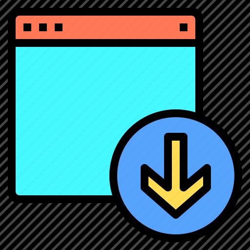 blogging, design, download, ideas, laptop, programming, technology icon